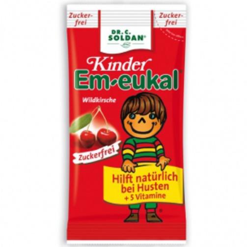 엠오이칼 킨더 어린이 감기사탕 (무설탕, 체리맛) 75g